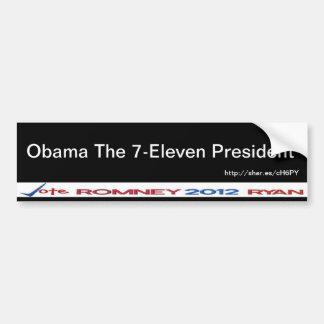 7-Eleven President Bumper Sticker