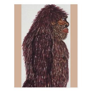 7 ft 6 in(230 cm) tall Sasquatch Postcard
