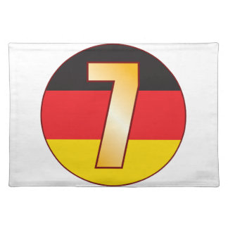 7 GERMANY Gold Placemat