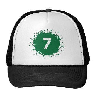 #7 Green Splatter Cap