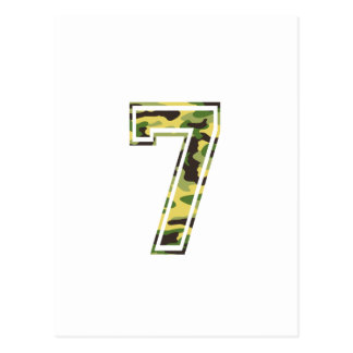 #7 Green & Yellow Camo Postcard