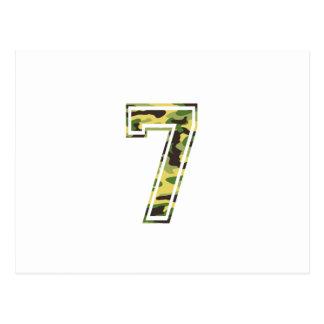 7 Green Yellow Camo Postcard