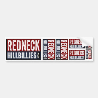 7 in 1  Redneck Hillbillies dot com bumper sticker