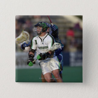 7 Jun 2001:  Gary Gait #1  Long Island 15 Cm Square Badge