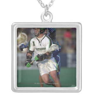 7 Jun 2001:  Gary Gait #1  Long Island Silver Plated Necklace