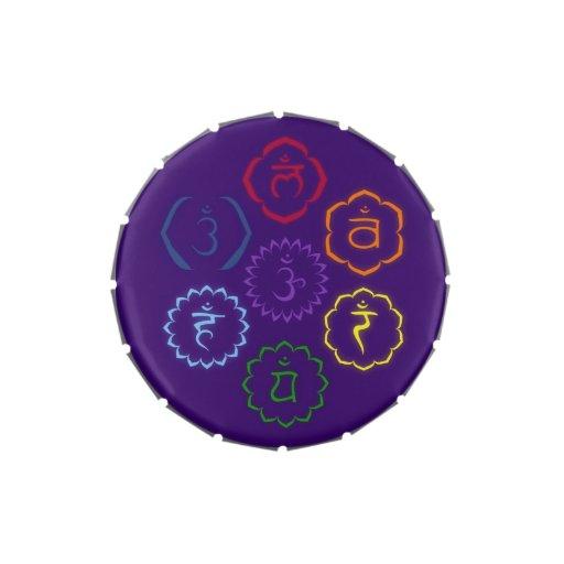 7 Main Chakras in a Circle Candy Tins