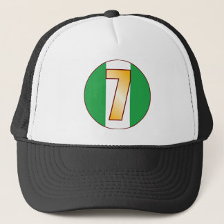 7 NIGERIA Gold Trucker Hat