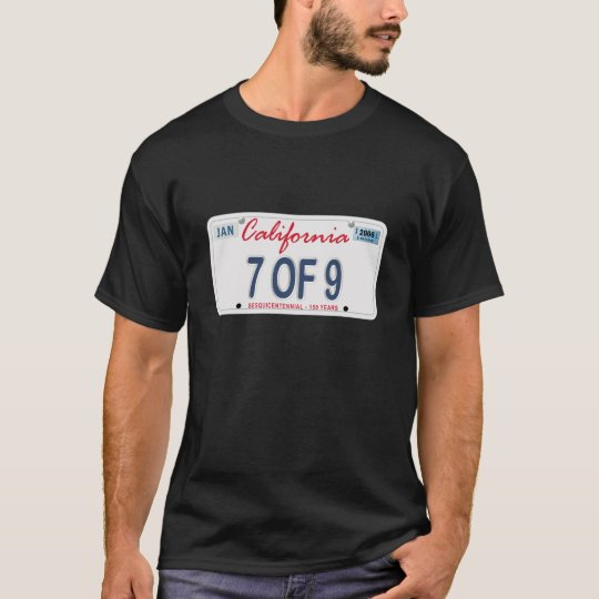 7 of 9 license Plate T-Shirt