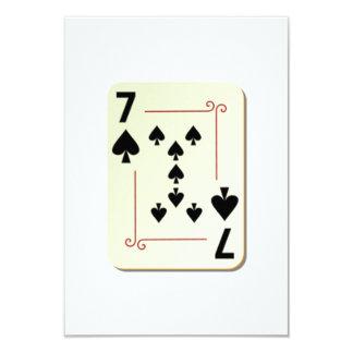 7 of Spades Playing Card 9 Cm X 13 Cm Invitation Card