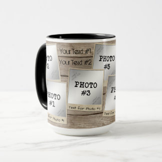 7-Photo Vintage Photo Frames-Wood Mug