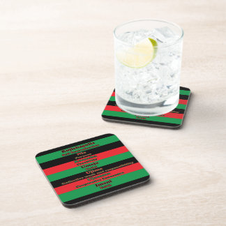 7 Principles of Kwanzaa Cork Coaster