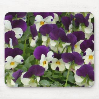 7 Purple White Painted Violas Mouse Pad