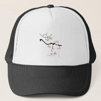 7 sakura blossoms with 7 birds, tony fernandes trucker hat