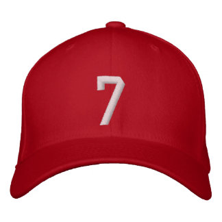 7 Seven Embroidered Hat