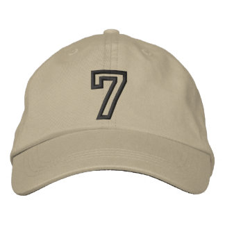 """7"" Small Athletic Number Embroidered Hats"