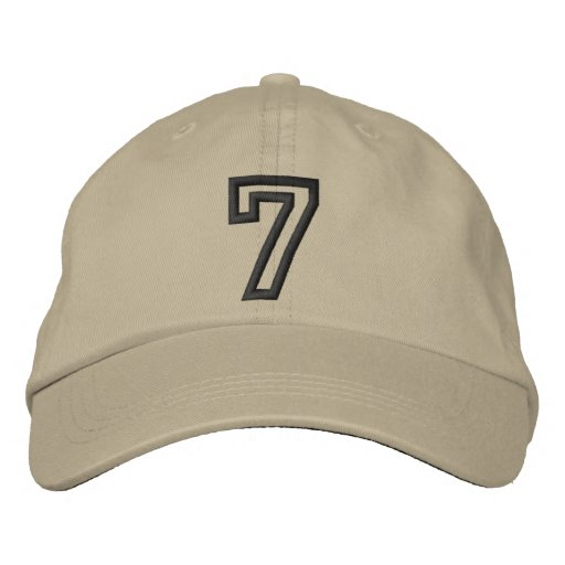 """""""7"""" Small Athletic Number Embroidered Hats"""