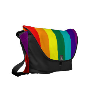 7 Stripes Rainbow Flag Rickshaw Messenger Bag