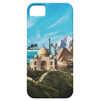 7 wonders travel photo collage iphone case