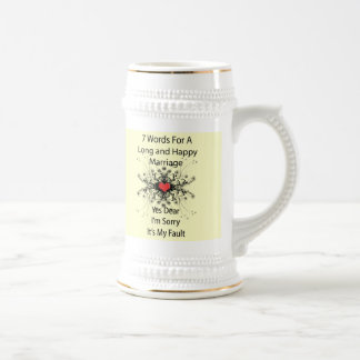 7 Words For A Long Marriage Beer Steins
