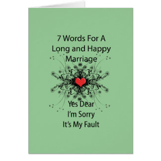 7 Words For A Long Marriage Card