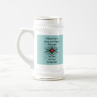 7 Words For A Long Marriage Mugs