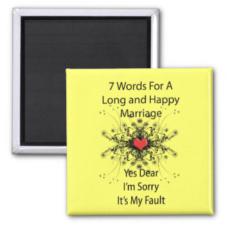7 Words For A Long Marriage Square Magnet