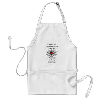 7 Words To A Long Marriage Aprons