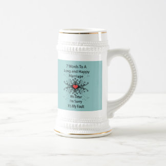 7 Words To A Long Marriage Beer Stein
