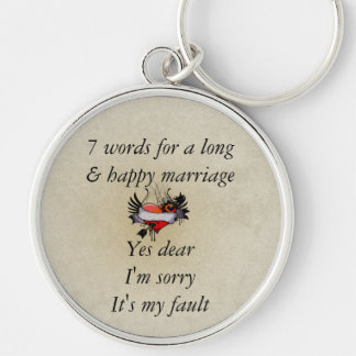 7 Words To A Long Marriage & Happy Marriage Keychains