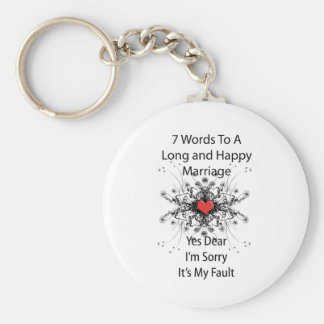 7 Words To A Long Marriage Keychains