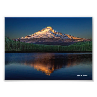 "7"" x 5"" Mount Hood from Trillium Lake Art Photo"