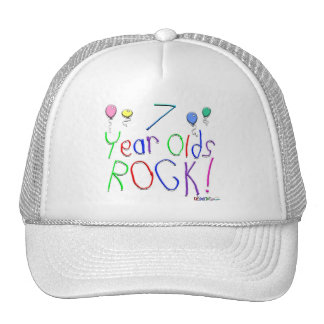 7 Year Olds Rock ! Cap