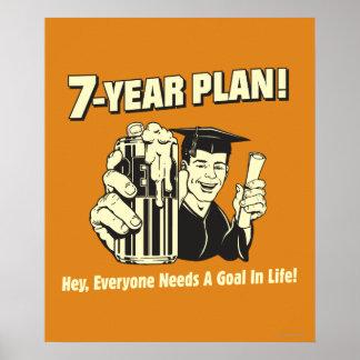 7 Year Plan: Everyone Needs a Goal Poster
