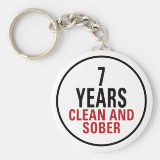 7 Years Clean and Sober Key Ring
