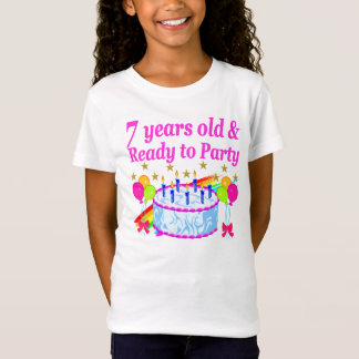 7 YEARS OLD AND READY TO PARTY BIRTHDAY GIRL T-Shirt