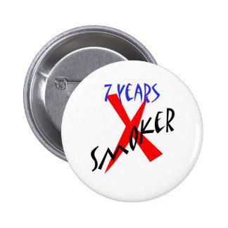 7 Years Red X-smoker 6 Cm Round Badge