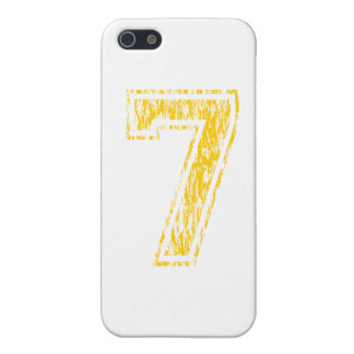 #7 Yellow Varsity Cover For iPhone 5/5S