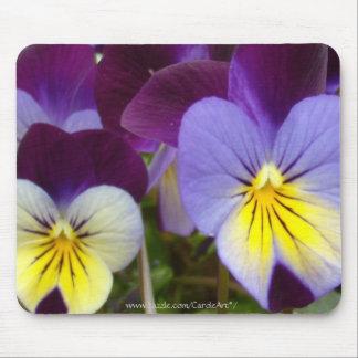 7a Blue Yellow Purple Violas Mouse Pad