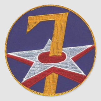 7th AF COMMAND- WWII Round Stickers