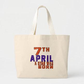 7th April a star was born Tote Bags