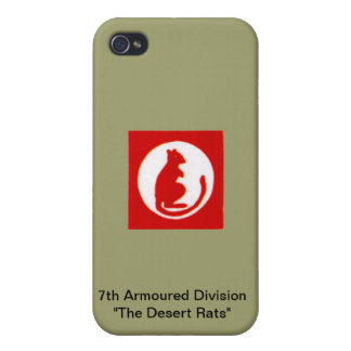 """7th Armoured Division""""The Desert Rats"""" iPhone 4 Covers"""