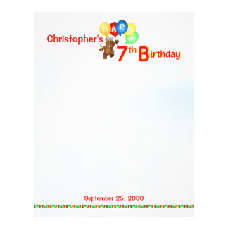 7th Birthday Bears Scrapbook Paper 1 Flyer