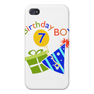 7th Birthday - Birthday Boy Cases For iPhone 4