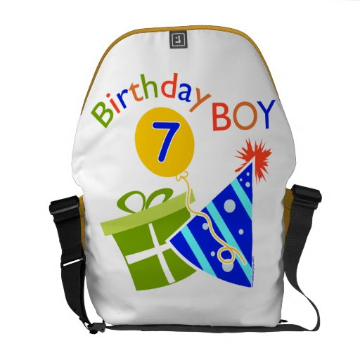 7th Birthday - Birthday Boy Messenger Bag
