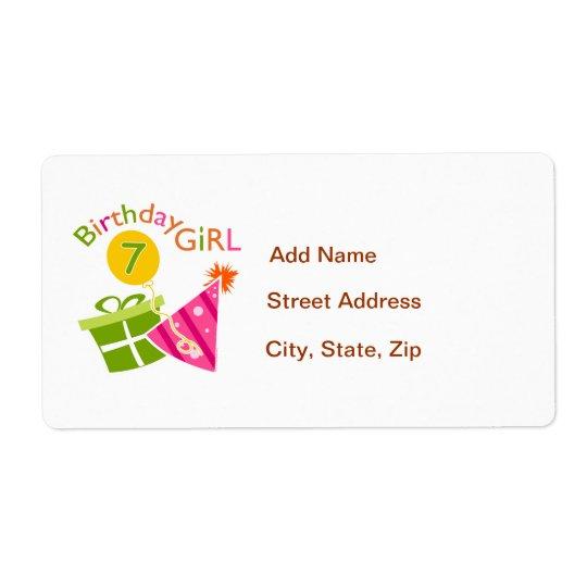 7th Birthday - Birthday Girl