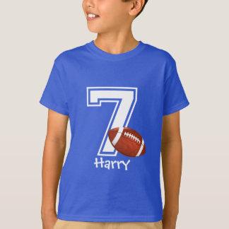 7th Birthday boy personalized-3 T-Shirt
