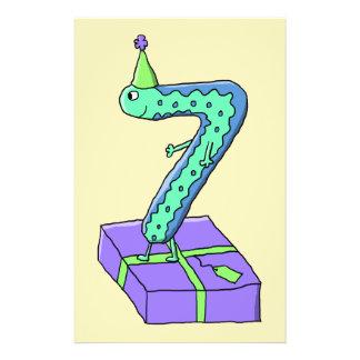 7th Birthday Cartoon. Full Color Flyer