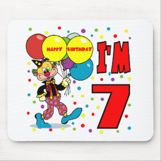 7th Birthday Clown Birthday Mouse Pads