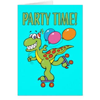 7th Birthday Dinosaur Card