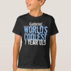 7th Birthday Gift World's Coolest 7 Year Old V12 T-Shirt